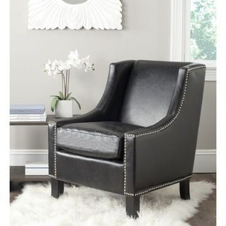 Safavieh Daniel Antique Black Club Chair