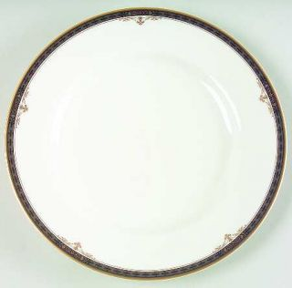 Mikasa Regency Crest Salad Plate, Fine China Dinnerware   Fine China,Black&Gold