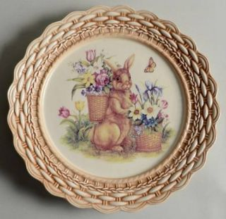 Cracker Barrel Easter Treasures Salad Plate, Fine China Dinnerware   Easter Bunn