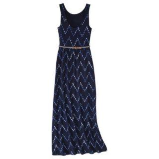 Merona Womens Maxi Dress w/Belt   Navy Chest   XXL