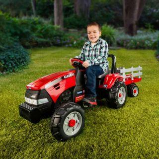 Peg Perego Case Pedal Tractor & Trailer Multicolor   IGCD0554