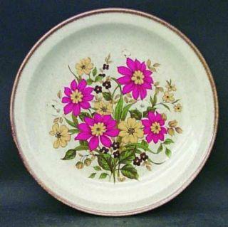 Alpine Mountain Brook Gardens Salad Plate, Fine China Dinnerware   Orange & Yell