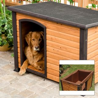Precision Extreme Outback Log Cabin Dog House and Insulation Kit Multicolor