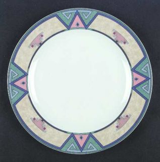 Christopher Stuart Montero Dinner Plate, Fine China Dinnerware   Tan Border With